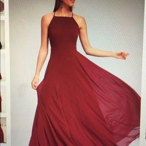 Burgundy size S Lulu dress brand new